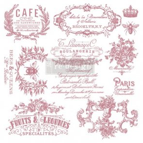 Clear stamp cling I see Paris Redesign With prima stämpel