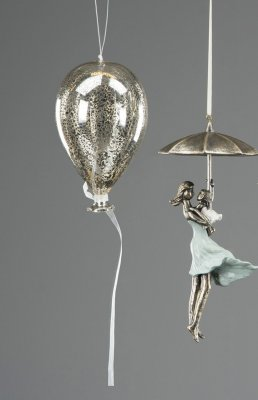 Ballong Old silver alot Decoration