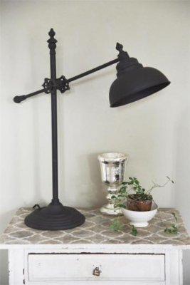 Bordslampa industri svart Jeanne d'Arc Living JDL